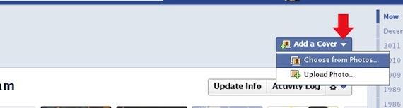 Facebook Timeline Edit Profile Photo Dropdown Options