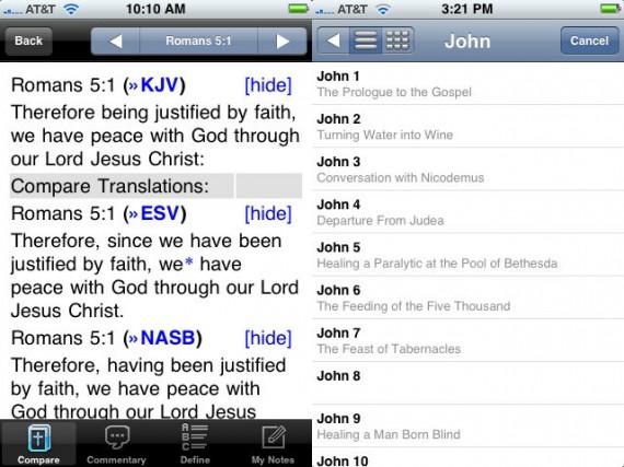 mantis mobile bible app screenshot