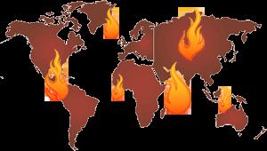 World-map-fire
