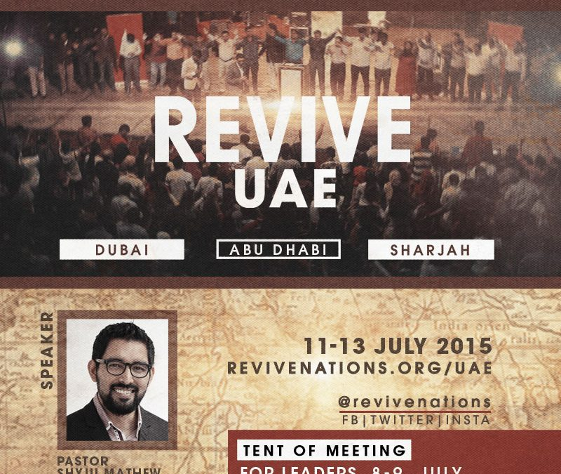 Join Revive UAE With Pastor Shyju Mathew